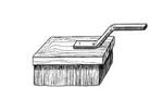 Ручной малярный инструмент - Кисть торцовка